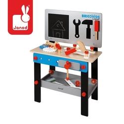 Stolik warsztat drewniany magnetyczny z 24 elementami bricolo