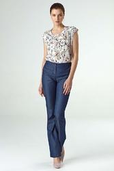 Jeansowe spodnie z prostymi nogawkami