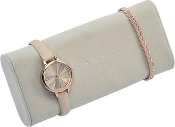 Poduszka na zegarki stackers jasnoszara velvet