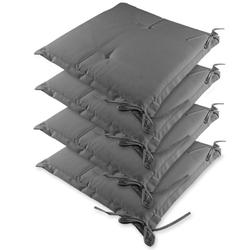 4x poduszka materac na krzesła ogrodowe szare