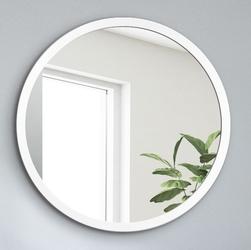 Okrągłe lustro scandinavia bold z białą ramą