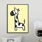 Scandi giraffe - plakat dla dzieci , wymiary - 18cm x 24cm, kolor ramki - czarny