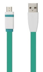 Kabel tb usb - micro usb 1m. zielony