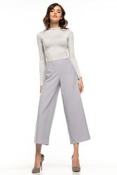 Damskie spodnie cygaretki szare t271