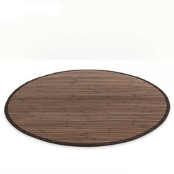 Mata bambusowa okrągła dywanik bambusowy 150cm ciemnobrązowy