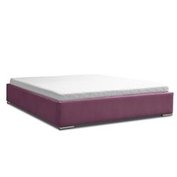 Klasyczne łóżko tapicerowane do sypialni wener bez zagłówka