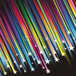 Plakat na papierze fotorealistycznym spadająca gwiazda