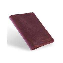Super cienki portfel ze skóry brodrene sw05 czerwony