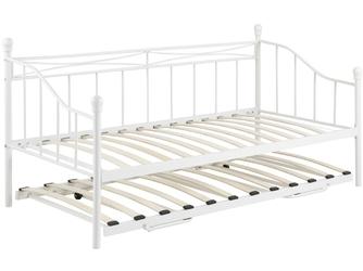 Łóżko metalowe Olympia 90x190 białe z dostawką