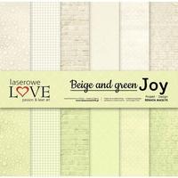 Papier 30,5x30,5 cm beige and green joy - zestaw