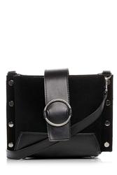 Czarna uniwersalna torebka z okrągłą klamrą