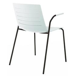 Krzesło z podłokietnikami skin 4 na czarnych nogach