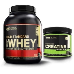 Optimum nutrition whey gold standard - 2270g + creatine - 144g