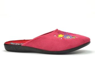 Pantofle pełne adanex 24715 malinowe