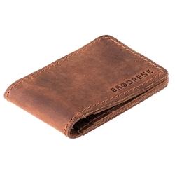 Jasno brązowy cienki portfel slim wallet brodrene sw02