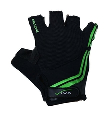Rękawiczki rowerowe vivo czarno-zielone sb-01-5038-a