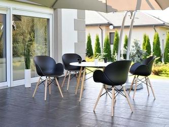 Krzesło na taras sven czarne skandynawskie