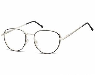 Owalne okulary oprawki optyczne 918e czarno-srebrne