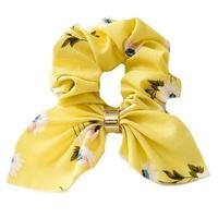 Gumka do włosów frotka apaszka scrunchies żółta - żółta