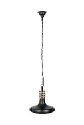 Dutchbone lampa wisząca coil czarna 5300146