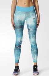 Legginsy adidas w kolorze turkusowym z wysoką talią maskujące niedoskonałości