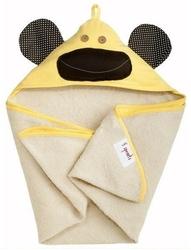 Ręcznik z kapturkiem - żółta małpka