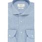 Elegancka koszula męska profuomo sky blue w pepitkę 44