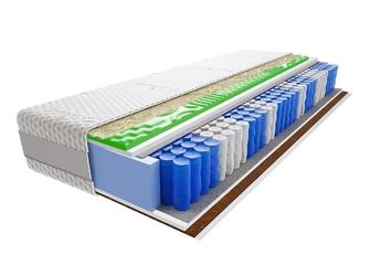 Materac kieszeniowy hinti lux visco molet 130x220 cm średnio  twardy profilowane visco memory