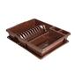 Suszarka do naczyń z ociekaczem na blat kuchenny bentom classic 43 cm brązowa