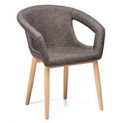 Tapicerowane krzesło na drewnianych nogach reno