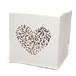 Pudełko z ornamentowym sercem - 10 szt