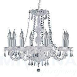 Hale lampa wisząca 8 chrom kryształ