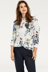 Szyfonowa bluzka w kwiaty i motyle