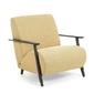 Tapicerowany fotel madras 78x86 cm żółty