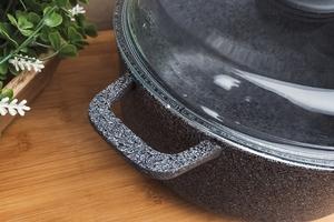 Biol garnek aluminiowy 22 cm3 l plus szklana pokrywa