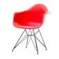 Krzesło ogrodowe tunis steel czerwone