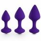 Zestaw 3 korków analnych feelztoys - purpurowy