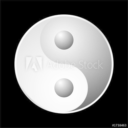 Fotoboard na płycie yin symbol