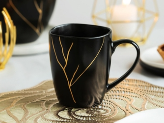 Kubek do kawy i herbaty porcelanowy altom design magnific 300 ml czarny