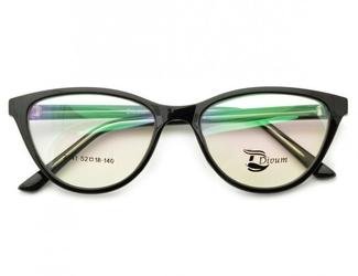 Oprawki okularowe pod korekcję kocie oko damskie st2941f czarne
