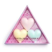 Makeup revolution zestaw kuli do kapieli pastel heart fizzer kit