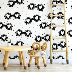 Tapeta dziecięca - lovely glasses , rodzaj - próbka tapety 50x50cm