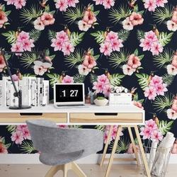 Tapeta na ścianę - tropical bouquet , rodzaj - próbka tapety 50x50cm