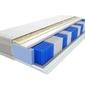 Materac kieszeniowy wati multipocket 130x200 cm średnio twardy lateks visco memory