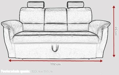 Sofa rozkładana sana z pojemnikiem