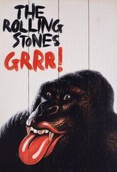 Rolling stones grr - obraz na drewnie
