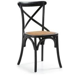 Drewniane krzesło silea czarne
