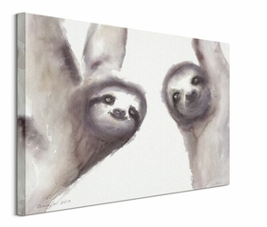 Leniwce - obraz na płótnie