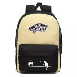 Plecak szkolny vans realm golden haze-black custom cats - vn0a3ui6v5g