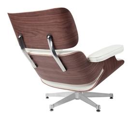 Biały fotel vip ze srebrną bazą